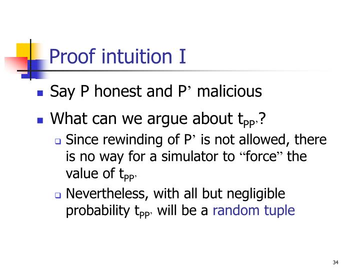Proof intuition I