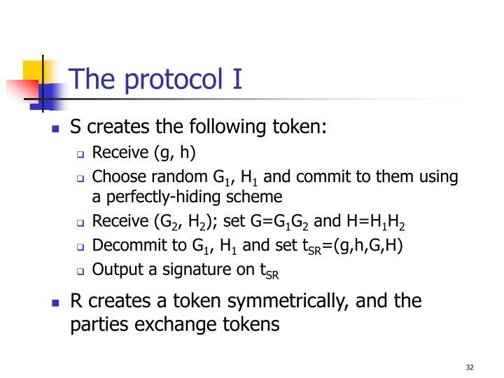 The protocol I
