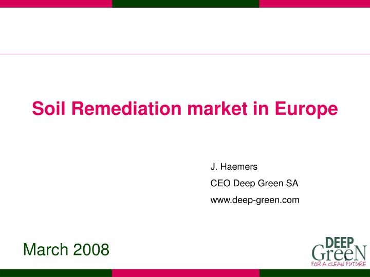 Soil Remediation market in Europe