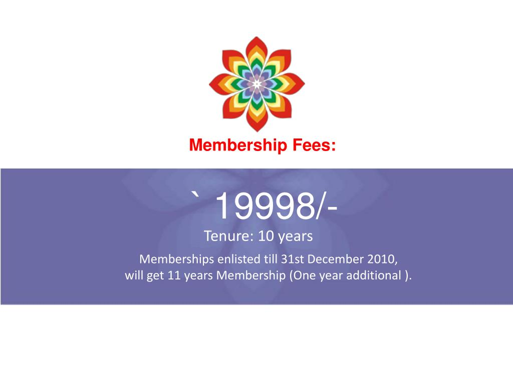 Membership Fees: