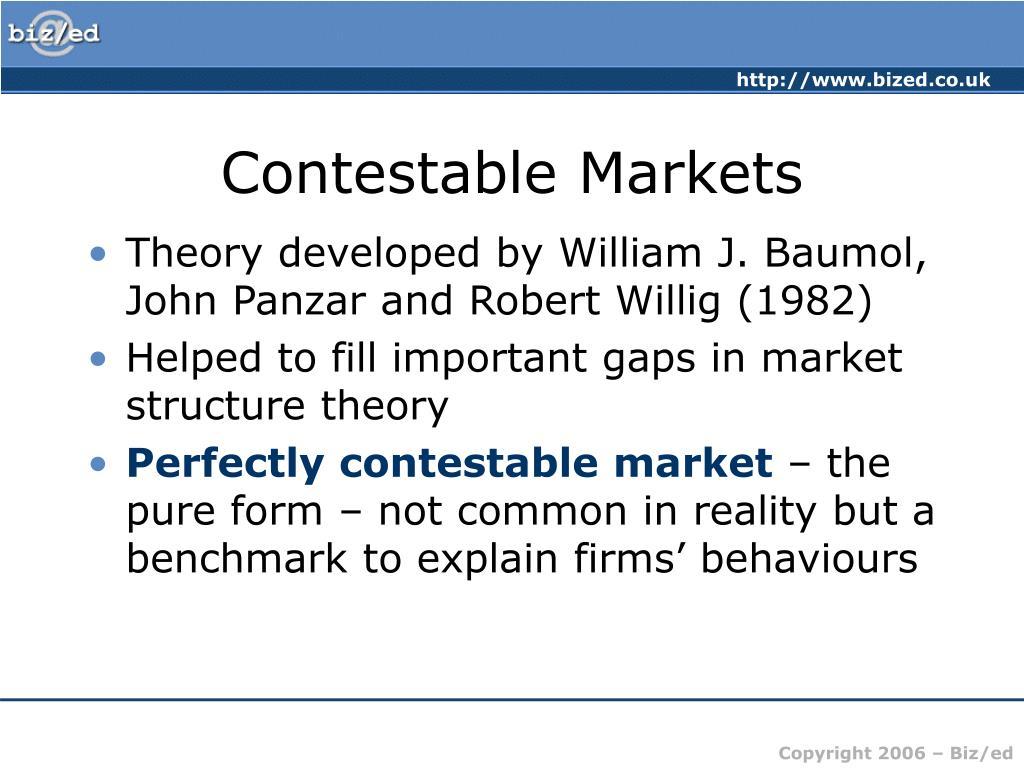 Contestable Markets