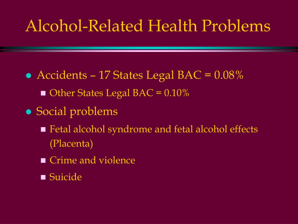 Alcohol-Related Health Problems