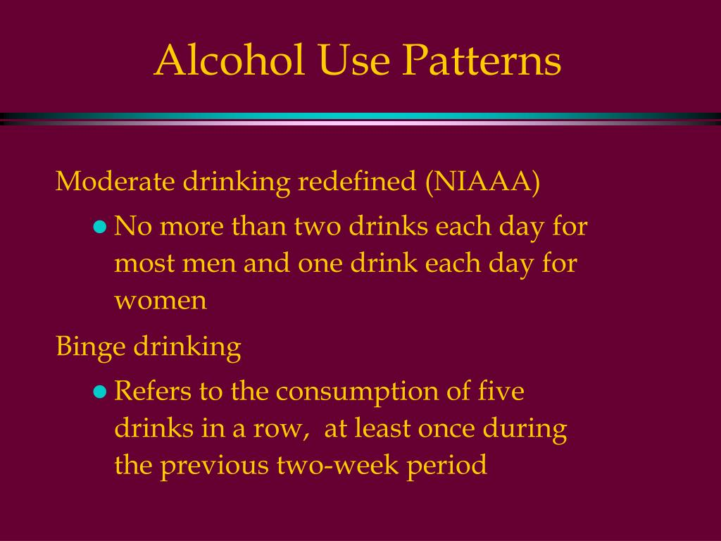 Alcohol Use Patterns