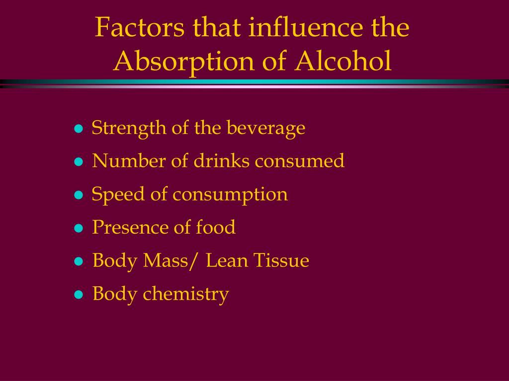 Factors that influence the Absorption of Alcohol