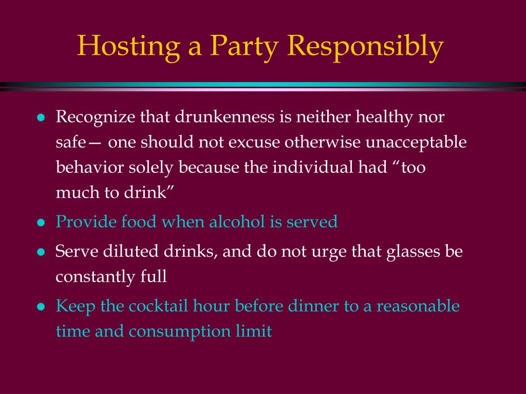 Hosting a Party Responsibly