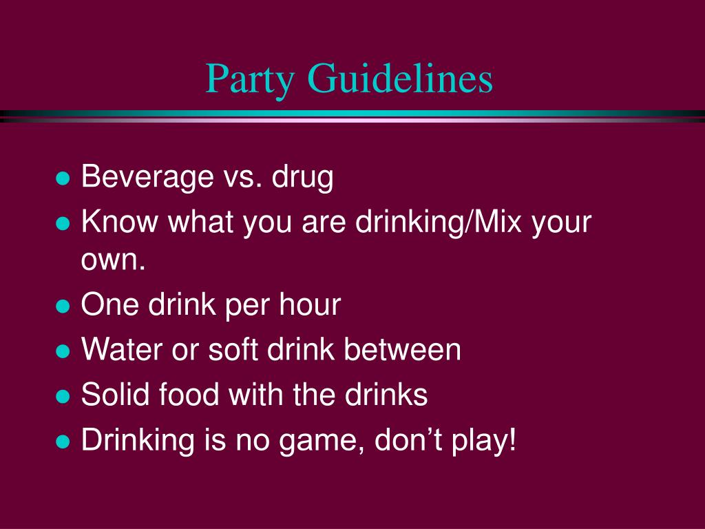 Party Guidelines