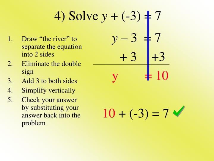 4) Solve