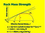 rock mass strength