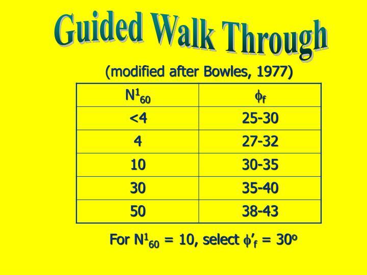 Guided Walk Through