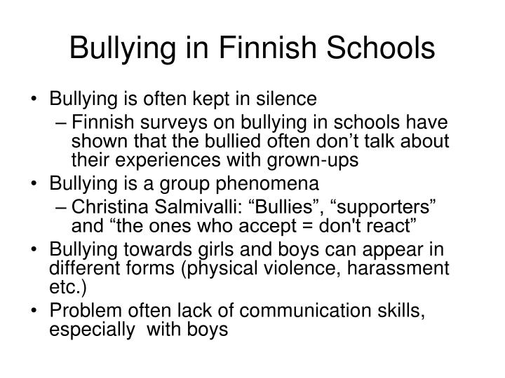The lack of communication in schools as a cause for school violence