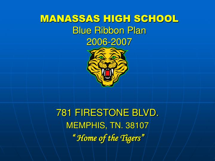 Manassas high school blue ribbon plan 2006 2007