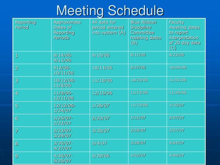 Meeting Schedule