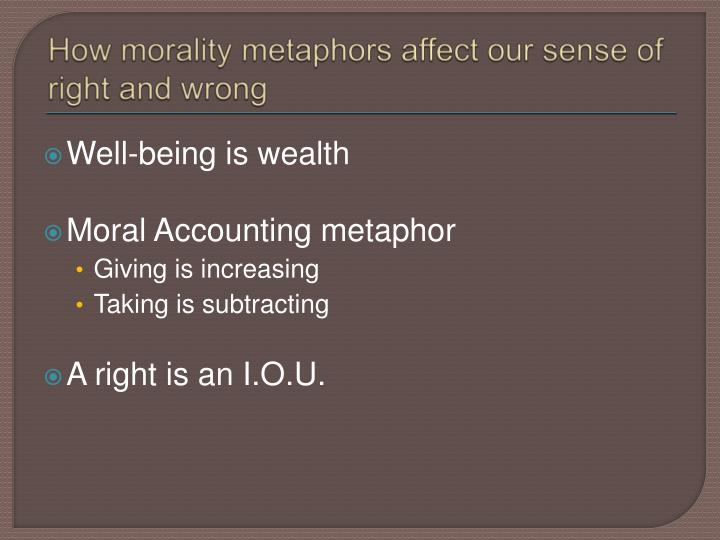 How morality metaphors affect our sense of right and wrong