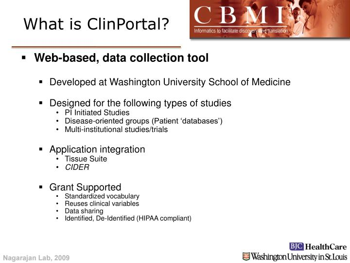 What is ClinPortal?
