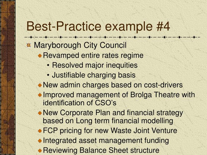 Best-Practice example #4