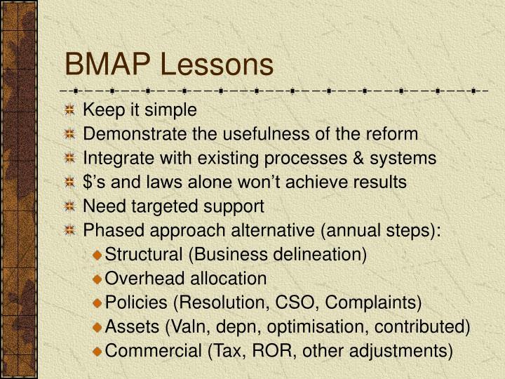 BMAP Lessons