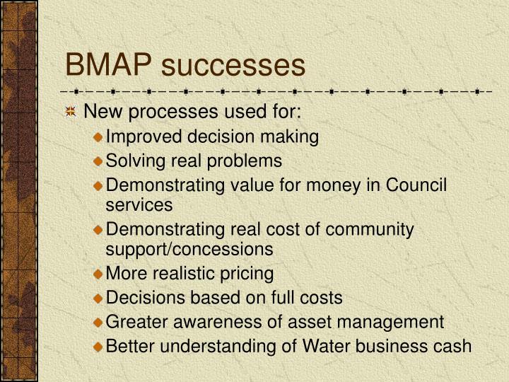 BMAP successes