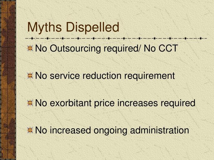 Myths Dispelled
