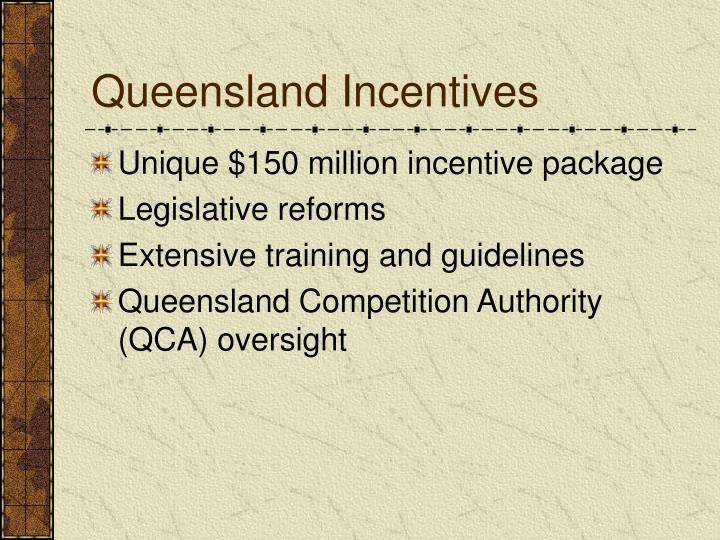 Queensland Incentives