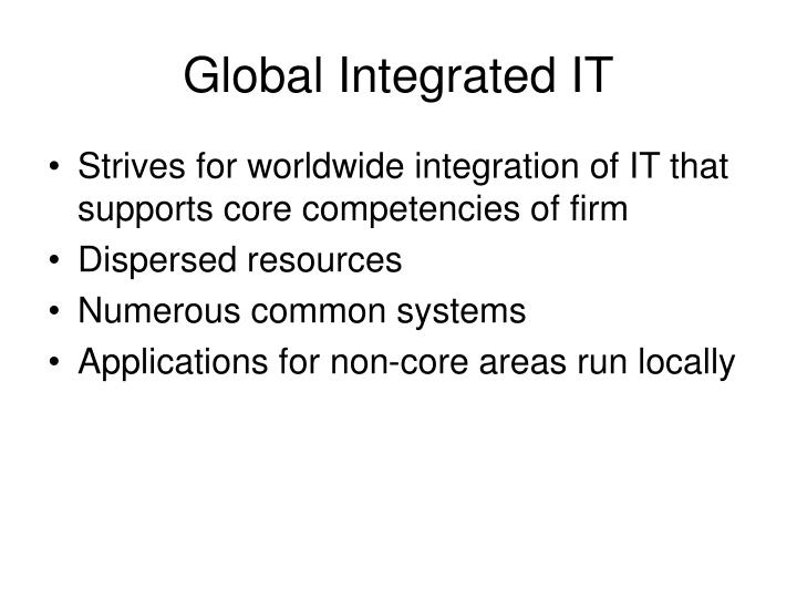 Global Integrated IT