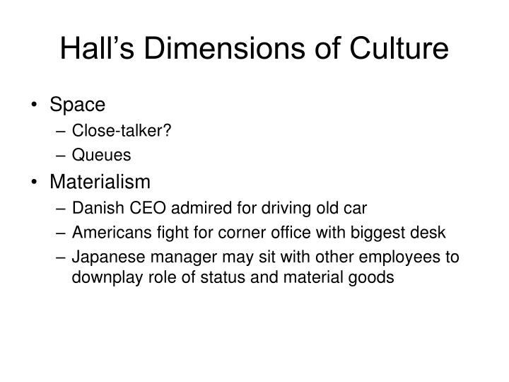 Hall's Dimensions of Culture