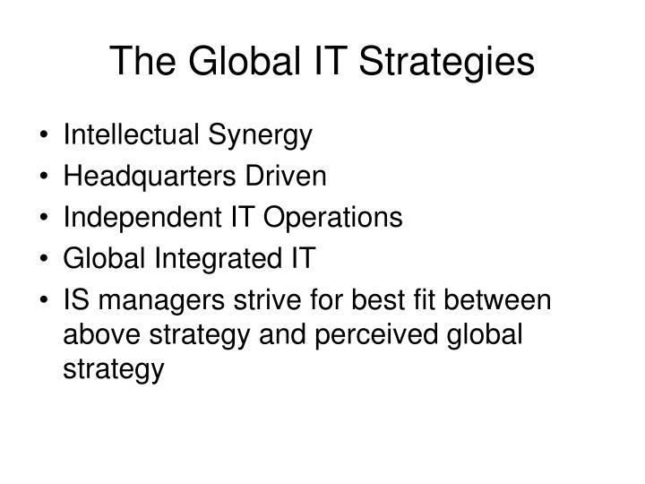 The Global IT Strategies