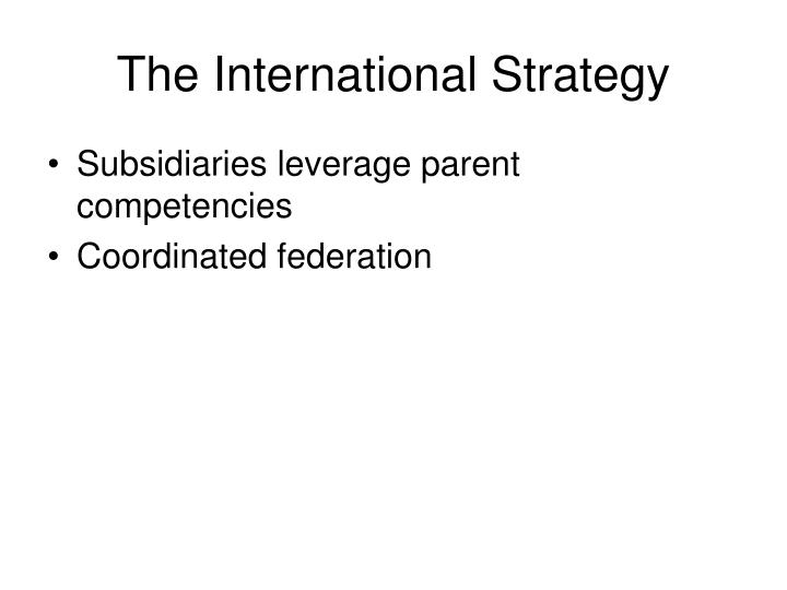 The International Strategy