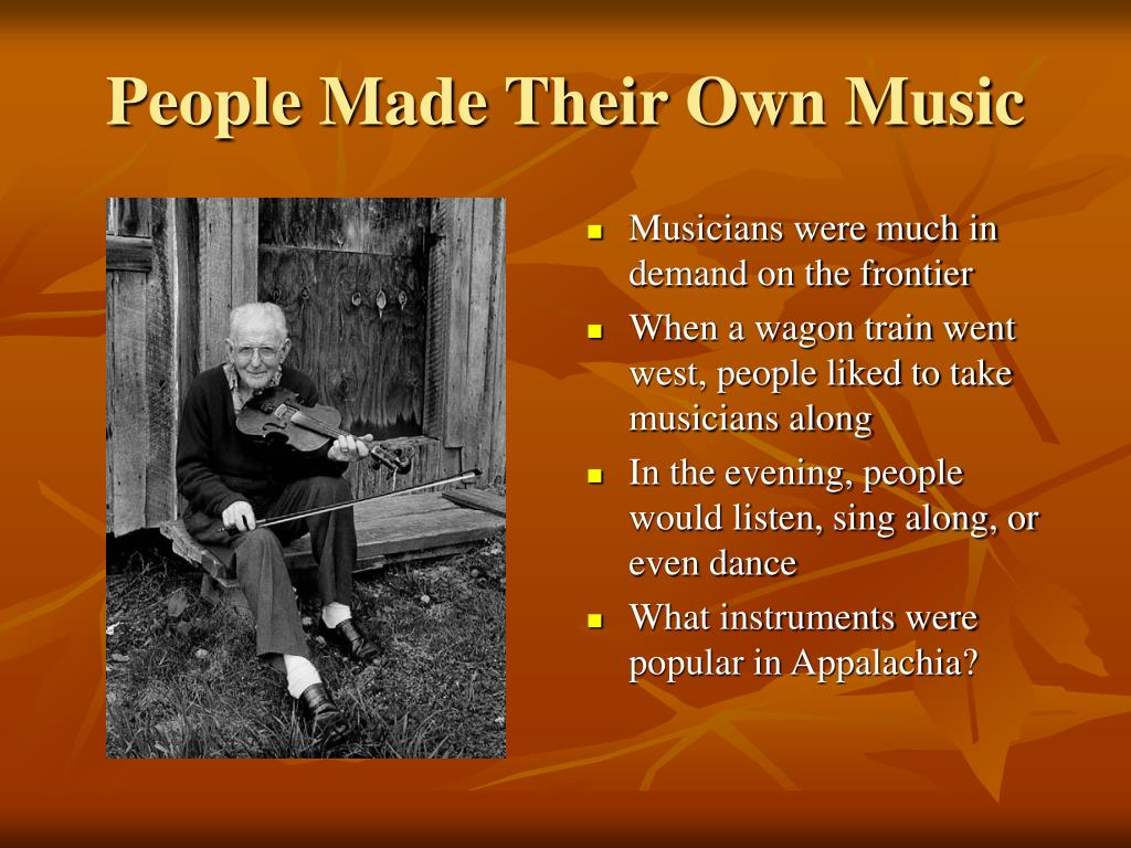 People Made Their Own Music