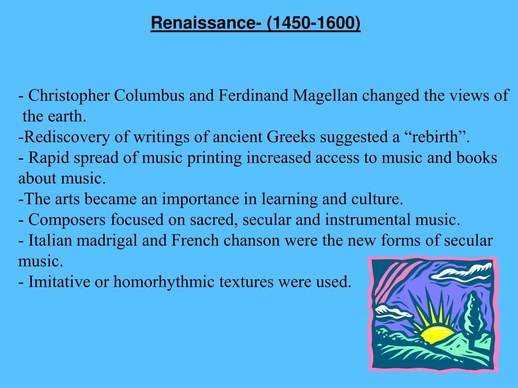 Renaissance- (1450-1600)