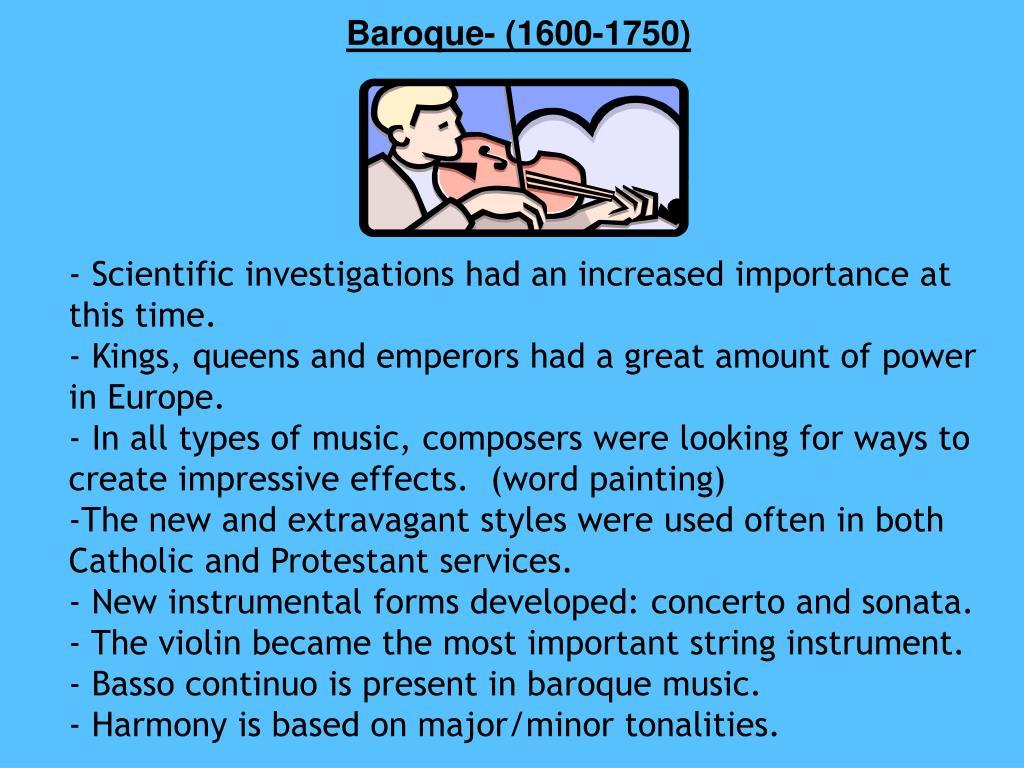 Baroque- (1600-1750)