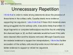 unnecessary repetition10