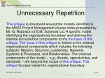 unnecessary repetition4