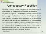 unnecessary repetition9