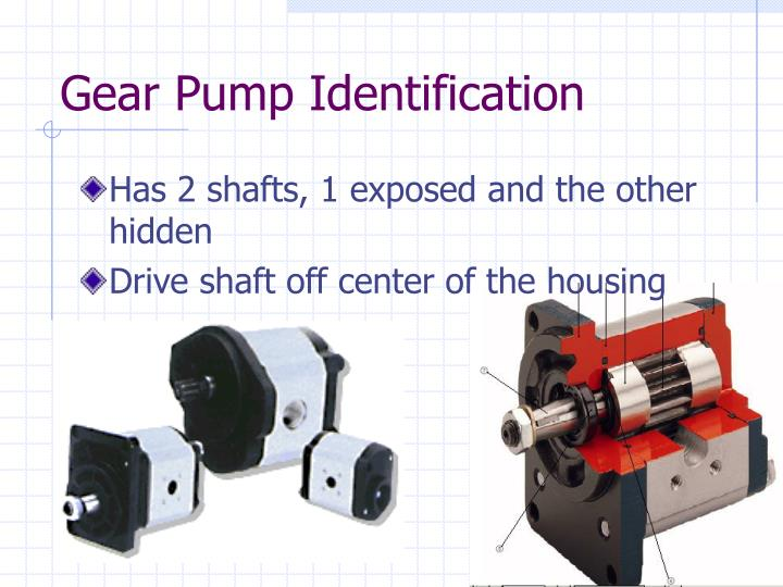 Gear pump identification
