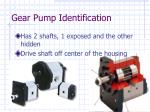 gear pump identification