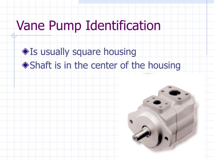 Vane Pump Identification