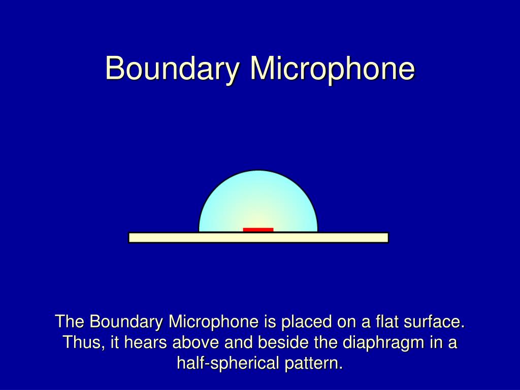 Boundary Microphone