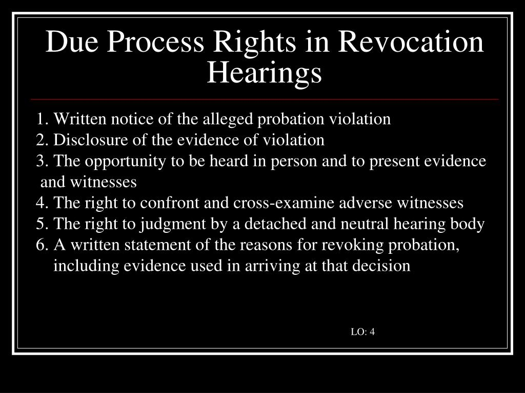 Due Process Rights in Revocation Hearings