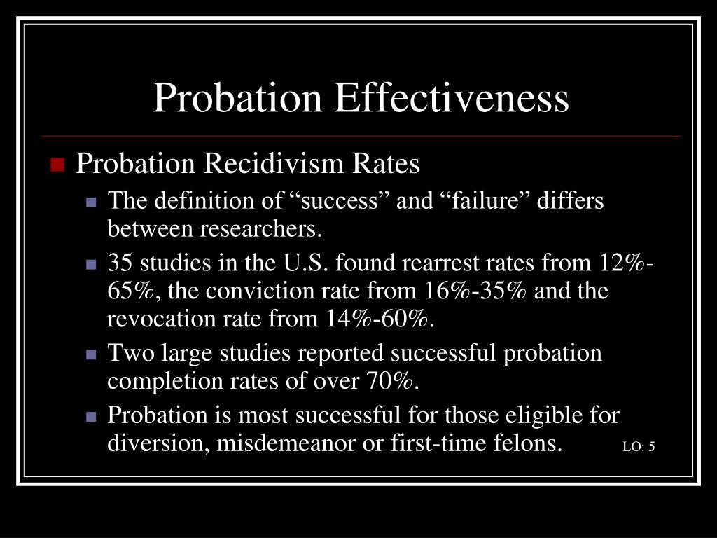 Probation Effectiveness