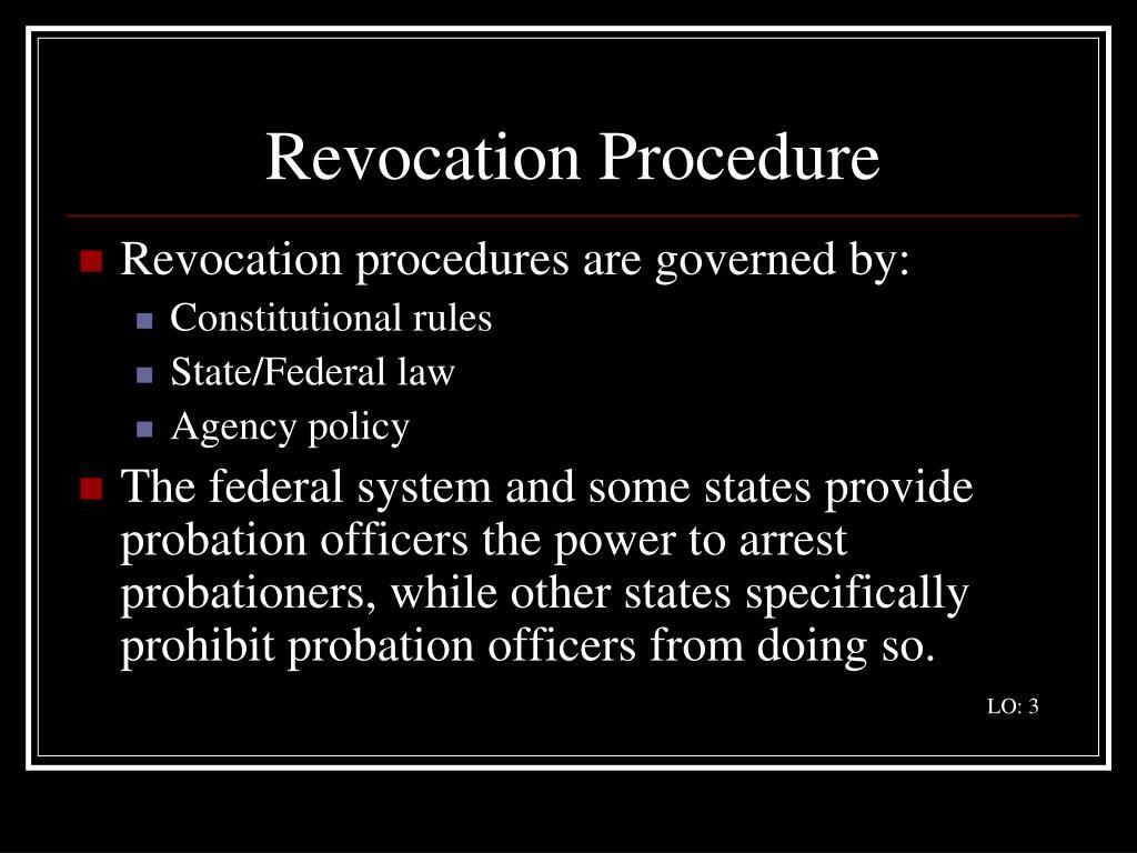 Revocation Procedure
