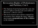 revocation rights of probationers and parolees con t12