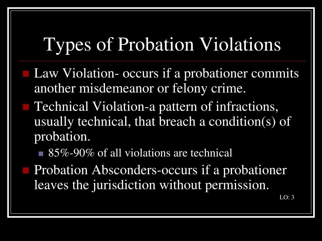 Types of Probation Violations