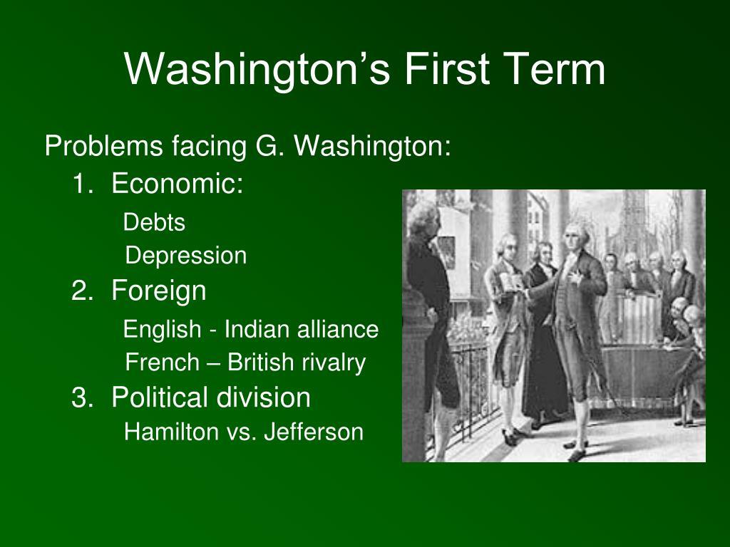 Washington's First Term