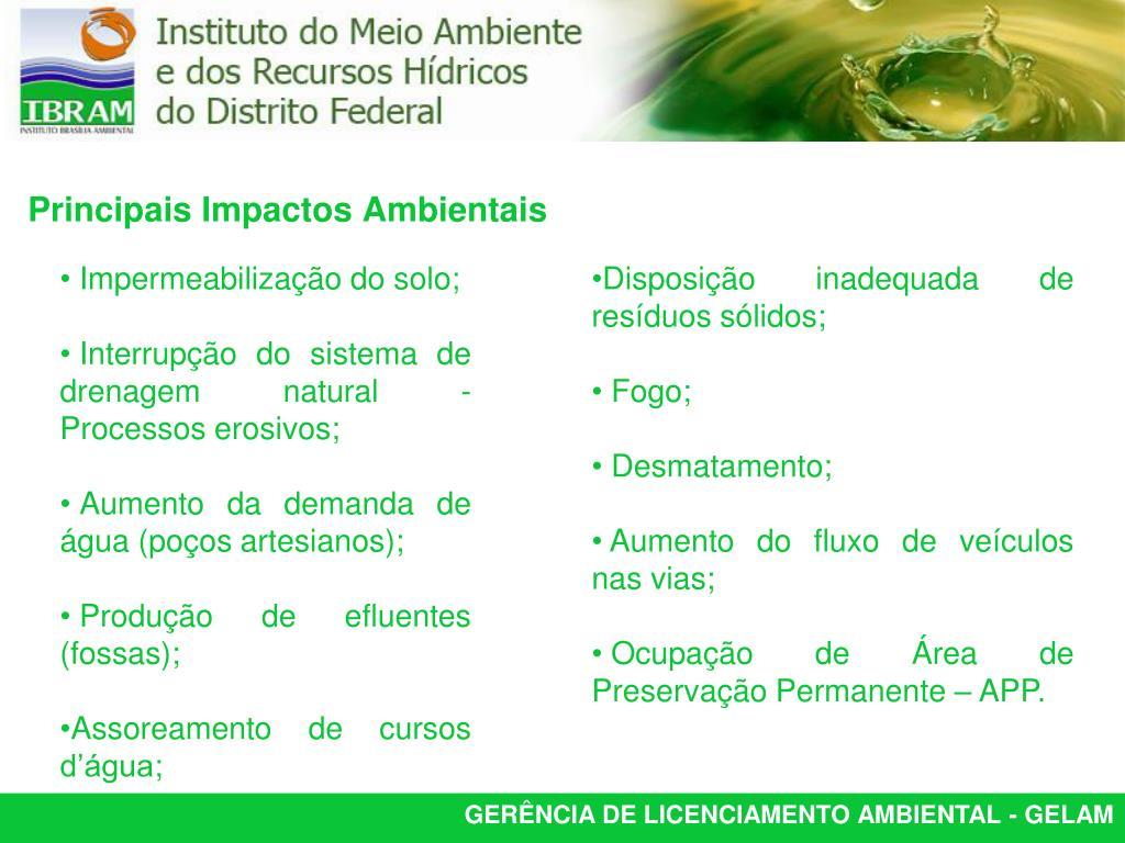 Impermeabilização do solo;