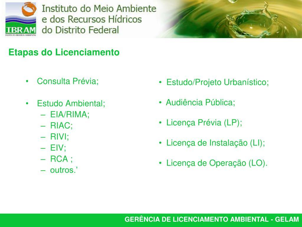 Consulta Prévia;