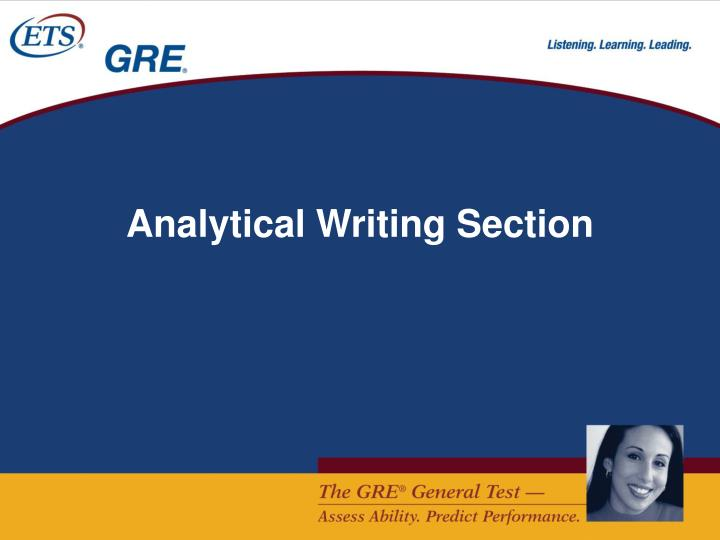 Analytical Writing Section