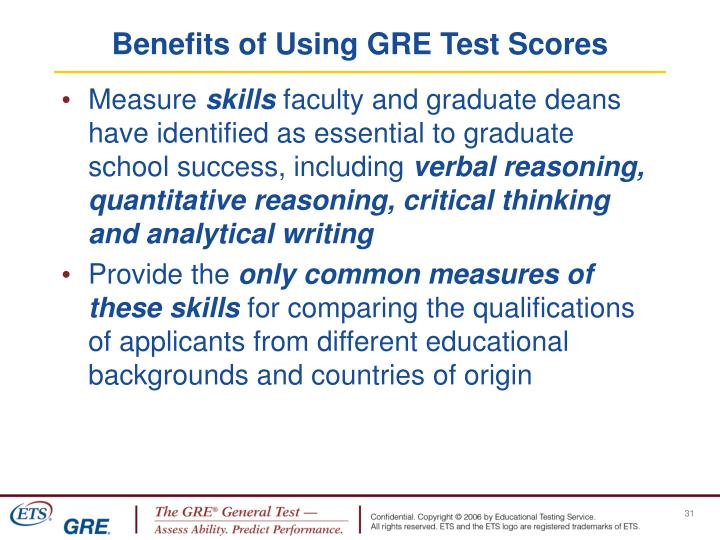 Benefits of Using GRE Test Scores