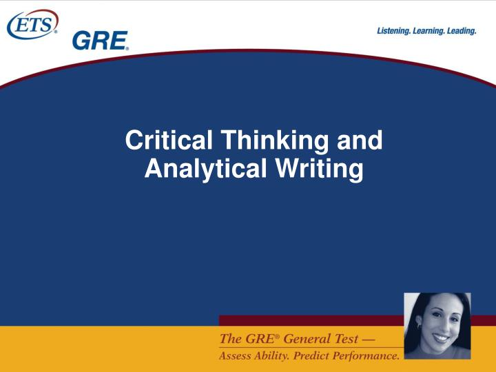 Critical Thinking and