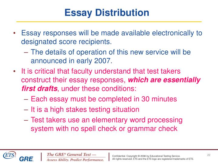 Essay Distribution