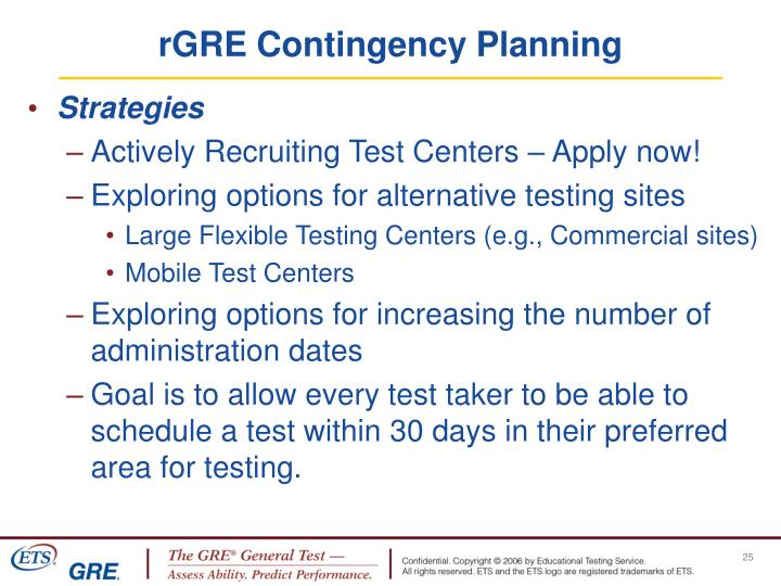 rGRE Contingency Planning